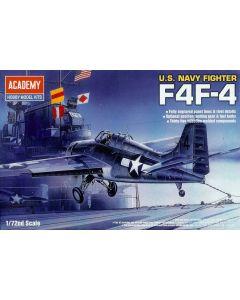 Academy 12451 US Navy Grumman F4F-4 Wildcat 1/72 Scale Plastic Model Kit