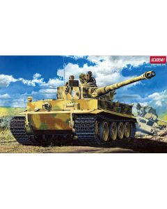 Academy 13239 WWII German Tiger I Tank with Full Interior 1/35 Scale Model Kit