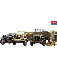 Academy 13416 WWII Ground Vehicles 1/72 Scale Plastic Model Kits