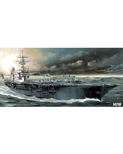 Academy 14210 US Aircraft Carrier Kitty Hawk 1/800 Scale Plastic Model Kit