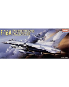 Academy 12444 US Air Force F-16A Fighting Falcon 1/72 Scale Plastic Model Kit