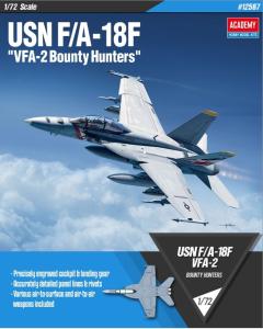Academy 12567 F/A-18F Super Hornet VFA-2 'Bounty Hunters' 1/72 Scale Model Kit