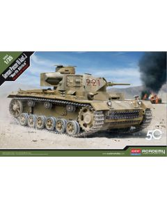 Academy 13531 Panzer III Ausf. J 'North Africa' 1/35 Scale Plastic Model Kit