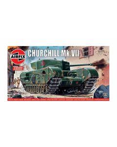 Airfix 01304V WWII British Churchill Tank MK VII 1/76 Scale Plastic Model Kit