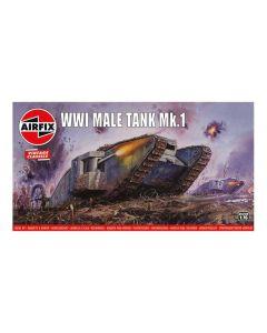 Airfix 01315V World War I British Army Male Tank 1/76 Scale Plastic Model Kit