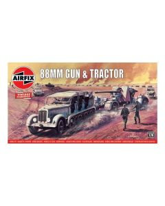 Airfix 02303V WWII German 88 mm Gun & Sd.Kfz. 7 Tractor 1/76 Scale Model Kit