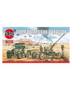 Airfix 02314V WWII British Bofors 40mm Gun & Tractor 1/76 Scale Plastic Model Kit
