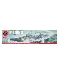 Airfix 04212V British Light Cruiser Belfast 1/600 Scale Plastic Model Kit