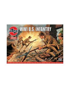 Airfix 00729V WWI US Army Infantry 1/72 Scale Plastic Model Figures