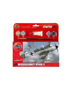 Airfix 55106 WWII German Messerschmitt Bf109E 1/72 Scale Model Kit Starter Set