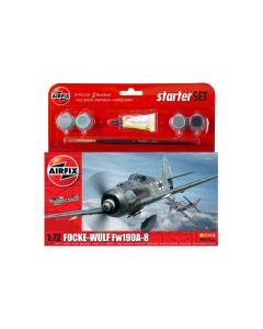 Airfix 55110 WWII German Fw190A-8 1/72 Scale Plastic Model Kit Starter Set
