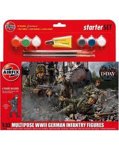 Airfix 55210 German Infantry Multipose 1/32 Scale Plastic Model Kit Starter Set