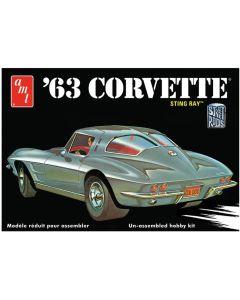 AMT 861 1963 Corvette Sting Ray 1/25 Scale Plastic Model Kit