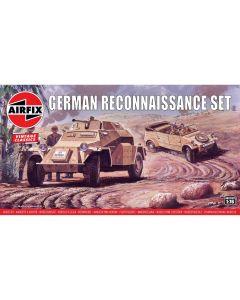 Airfix 02312V WWII German Reconnaissance Vehicle Set 1/76 Scale Model Kits