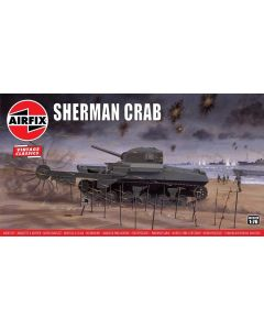 Airfix 02320V WWII British Sherman 'Crab' 1/76 Scale Plastic Model Kit