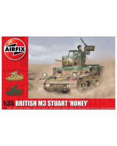 Airfix 1358 M3 Stuart British Version 'Honey' 1/35 Scale Plastic Model Kit