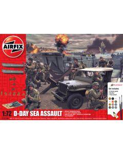 Airfix 50156A D-Day Sea Assault 1/72 Scale Plastic Model Kit Starter Set