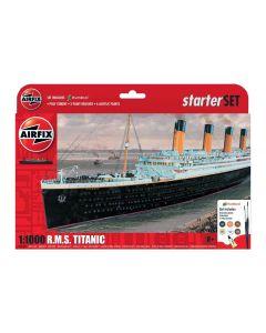 Airfix 55314 RMS Titanic 1/1000 Scale Plastic Model Kit Starter Set