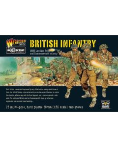 Bolt Action British Infantry Multipose Hard Plastic 28 mm Miniatures
