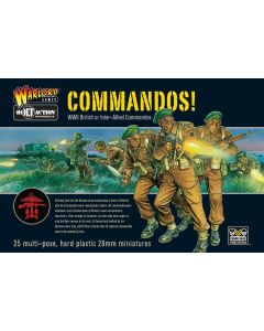 Bolt Action British or Allied Commandos Multipose Hard Plastic 28 mm Miniatures