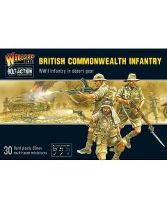 Bolt Action British Commonwealth Infantry Multipose Plastic 28 mm Miniatures