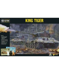Bolt Action WWII German King Tiger Tank 1/56 Scale Military Wargaming Model Kit