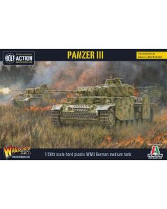 Bolt Action WWII German Panzer III Tank 1/56 Scale Military Wargaming Model Kit