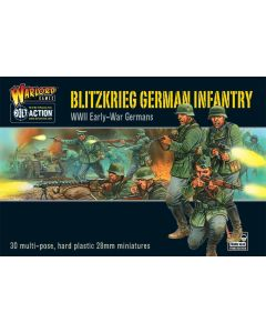 Bolt Action Blitzkrieg! German Infantry Hard Plastic 28 mm Miniatures