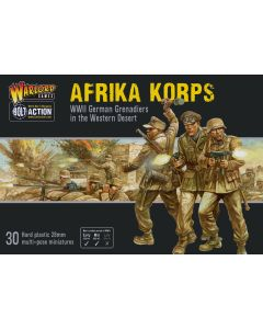 Bolt Action Afrika Korps Infantry Multipose Hard Plastic 28 mm Miniatures