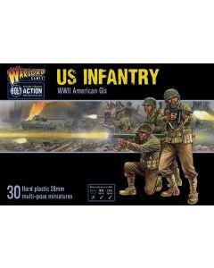 Bolt Action US Infantry Multipose Hard Plastic 28 mm Miniatures