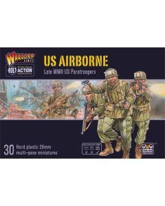 Bolt Action US Airborne Multipose Hard Plastic 28 mm Miniatures