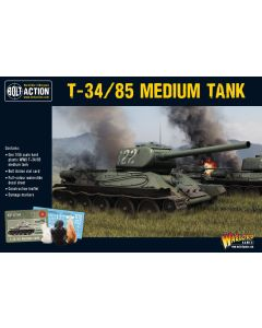 Bolt Action Soviet T34/85 Medium Tank 1/56 Scale Military Wargaming Kit