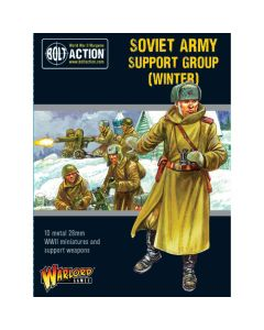 Bolt Action Soviet Army Support Group Winter Multipose Plastic 28 mm Miniatures