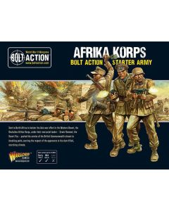 Bolt Action Afrika Korps Starter Army Multipose Hard Plastic 28 mm Miniatures