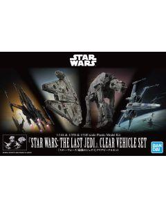 Bandai 5058919 Star Wars Last Jedi Clear Vehicle Set Scale Model Kits
