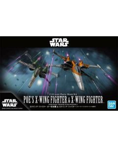 Bandai 5059231 Star Wars Poe's X-Wing & X-Wing Rise of Skywalker Scale Kits