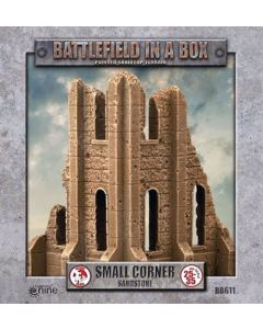 Battlefront BB611 Gothic Small Corner Sandstone (2) 30mm Scale Gaming Miniature