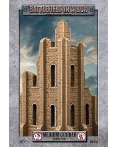 Battlefront BB612 Gothic Medium Corner Sandstone 30mm Scale Gaming Miniature