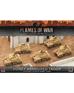 Battlefront BBX32 Honey Armoured Troop (5 Tanks) Plastic Gaming Miniatures