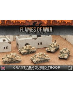 Battlefront BBX37 Grant Armoured Troop (5 Tanks) Plastic Gaming Miniatures