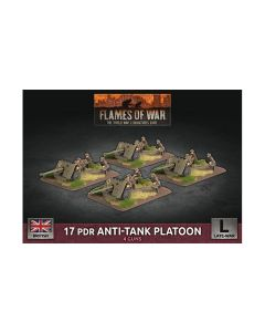 Battlefront BBX52 17 Pdr Anti-Tank Platoon Plastic Gaming Miniatures
