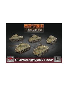 Battlefront BBX60 Sherman Armoured Troop Plastic Gaming Miniatures