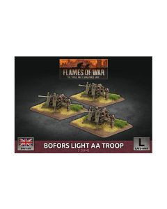 Battlefront BBX65 Bofors Light AA Troop (3 Guns) Plastic Gaming Miniatures