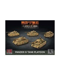 Battlefront GBX142 Panzer IV Tank Platoon (5 Tanks) Plastic Gaming Miniatures