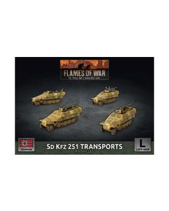Battlefront GBX152 Sd.Kfz. 251 Transports (4 Vehicles) Plastic Gaming Miniatures