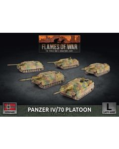 Battlefront GBX160 Panzer IV/70 Platoon (5 Vehicles) Plastic Gaming Miniatures