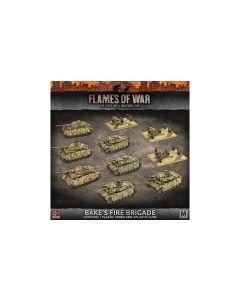 Battlefront GEAB17 'Baeke's Fire Brigade' (7 Tanks & 3 Launchers) Miniatures
