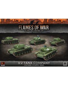 Battlefront SBX40 KV Tank Company (5 Tanks) Plastic Gaming Miniatures
