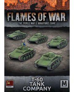 Battlefront SBX45 T-60 Tank Company (5 Tanks) Plastic Gaming Miniatures