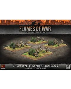 Battlefront SBX48 76mm Anti-Tank Company (4 Guns) Plastic Gaming Miniatures